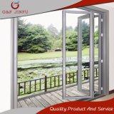 El huracán prueba exterior de aluminio puerta plegable con doble vidrio templado