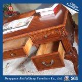 AG203 Marrón patrón talladas a mano un gran escritorio de madera con certificado