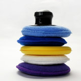 Esponja de limpeza automóvel redonda toalha, polimento e encerar Toalha