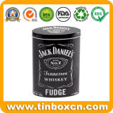 Whisky Oval Fudge tin box de dulces dulces dulces embalaje