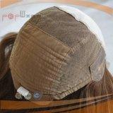 La parte superior de la Seda Cabello brasileño peluca médicos (PPG-L-0475)