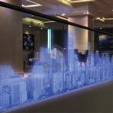 Balaustra di vetro dell'alluminio U Channle del ristorante LED con il corrimano d'acciaio