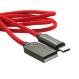 Câble en alliage de zinc de chargeur de synchro d'USB pour la foudre d'iPhone/micro androïde USB/Type C