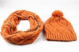 Шарф Beanie шарфа Customerized зимы Mens Unisex теплым установленным связанный кабелем (SK171S)