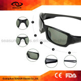 Mejor adulto aviador polarizadas las marcas de ciclismo personalizada de la ejecución de gafas de sol