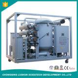 Haute tension sur la ligne de purification de l'huile de transformateur de la machine vide