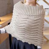 Кардиган свитера шарфа грелки шеи женщин оборачивает связанную зимой плащпалату Snood (SP605)