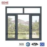 Горячая продажа алюминиевых окон с полого стекла дверная рама перемещена Windows
