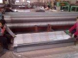Material para techos revestido galvanizado del metal del cinc acanalado de las hojas de acero de la onda de agua