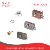 Racor de metal en la cerradura de puerta del cilindro de latón Lockset con perilla y la clave para la puerta del hogar
