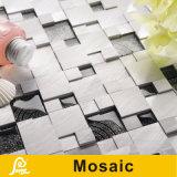 Mosaico di lusso d'argento e nero del metallo con il mosaico di vetro della pittura