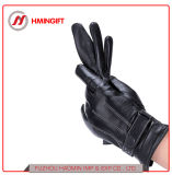 Мойки кожаные перчатки PU с тремя линиями Зимняя школа верховой езды на велосипеде теплый мужчин перчатки с сенсорным экраном для использования вне помещений защитные перчатки