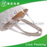 Saco de Tote natural branco liso feito sob encomenda da lona do algodão