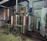 Pequeña cerveza casera del uso que hace equipo el equipo micro de la elaboración de la cerveza del arte