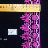 розовое 7.5cm широкие отвесное/пурпурово/белизны/уравновешивания шнурка золота декоративно для вспомогательного оборудования Hme897 ткани