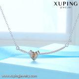 44110 Xuping Gevormde Kristallen van Juwelen van de Halsband van de Staaf Swarovski de Witgoud Geplateerde