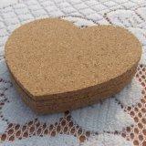 Cork van het hart de Onderlegger voor glazen, Vrije Steekproef is Beschikbaar