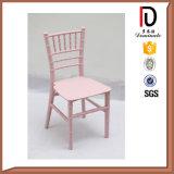 白い宴会の党ブロムC144のためのアルミニウム金属木プラスチックスタッキングの子供のChiavariの椅子