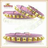 질 금 다이아몬드 개 고양이 가죽 Collars/Pet Leash/Harness 애완 동물 고리 (KC0051)