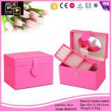Luxury Pink caso música meninas jóias de música Caixa de Armazenamento com espelho (8260)