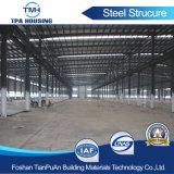 Marco estructural de metal de la luz de prefabricados de estructura de acero de una nave de almacenamiento