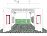 La norma europea Semi abajo el proyecto de cabina de pintura (BTD8800)