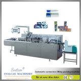 歯磨き粉のカートンボックスパッキング機械