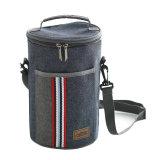 円柱氷のクーラーのショルダー・バッグの絶縁されたパックの飲み物の食糧熱びんのオルガナイザーのお弁当箱のピクニック荷物の大きさのロットの袋