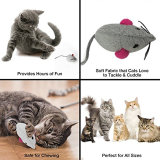 Animale Catnip-Riempito della peluche dei mouse del giocattolo del gatto