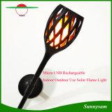 Intérieur en extérieur éclairage décoratif Micro USB flamme scintillante de lumière solaire rechargeable