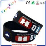 Form-Gummiarmband-kundenspezifischer SilikonWristband für Geschenk
