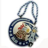 Подгонянное медаль отверстия двойника темы цирка скачками формы