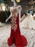 新しい到着の中国の赤いスパンコールの夕方のパーティー向きのドレス