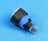 Spdt 22mm schwarzes Gehäuse beleuchteter Drucktastenschalter IP67