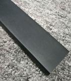 Het aangepaste Poeder 6063t5 bedekte de Zwarte Uitdrijving van het Aluminium met CNC het Machinaal bewerken met een laag