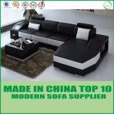 Chaiseのベッドが付いているホーム家具のイタリアの革ソファー