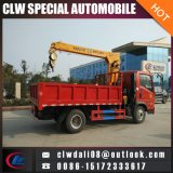 Sinotruk HOWO 4*2 트럭에 의하여 거치되는 기중기, 기중기, 판매를 위한 기중기를 가진 중국 트럭의 5-7ton 선적