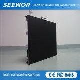 Gabinete Slim P5mm fijo en el interior de color completo panel de pantalla LED con 640*640 mm de gabinete
