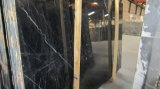 Polished естественные черные слябы Marquina мраморный для стены настила