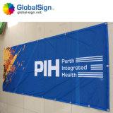 Digital-Drucken-Bildschirmanzeige-Fahnen-Ausstellung, die Fahne bekanntmacht