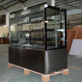 Étalage en verre d'étalage de réfrigérateur de Module de gâteau d'acier inoxydable d'Usine-Prix (ST750V-S)