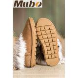 La mode des chaussures de mode d'hiver de l'Australie la peau de mouton bottes avec garniture de fourrure de lapin