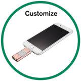 Vara instantânea feita sob encomenda OTG da memória de disco do USB da movimentação para o iPhone & o Android