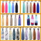 la tasse de cuvette de bouteille chaude la meilleur marché d'acier inoxydable de 9 17 de la qualité 25oz de vente de bosse de thermos flacons de vide peut être logo personnalisé