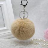 Rexのウサギの毛皮POM/Rabbitの毛皮の球Keychainか袋の毛皮POMのためのアクセサリ