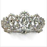 2018 de la boda de la corona de cristal personalizado Rhinestone Tiaras Corona nupcial (TA-001).