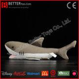 Kiefer-angefülltes Tier-weich großes weißer Haifisch-Plüsch-Spielzeug