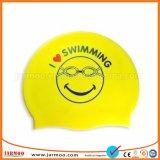 美しいSolidedカラー水泳の帽子の広告