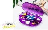 Portable de siete días transparente colorido del recorrido del rectángulo de la píldora