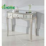 Insieme domestico rispecchiato francese d'argento antico della Tabella della mobilia